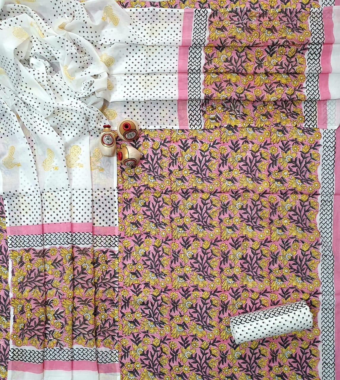 Non Catalog Cotton Suits With Cotton Dupatta Printed Suits Collection
