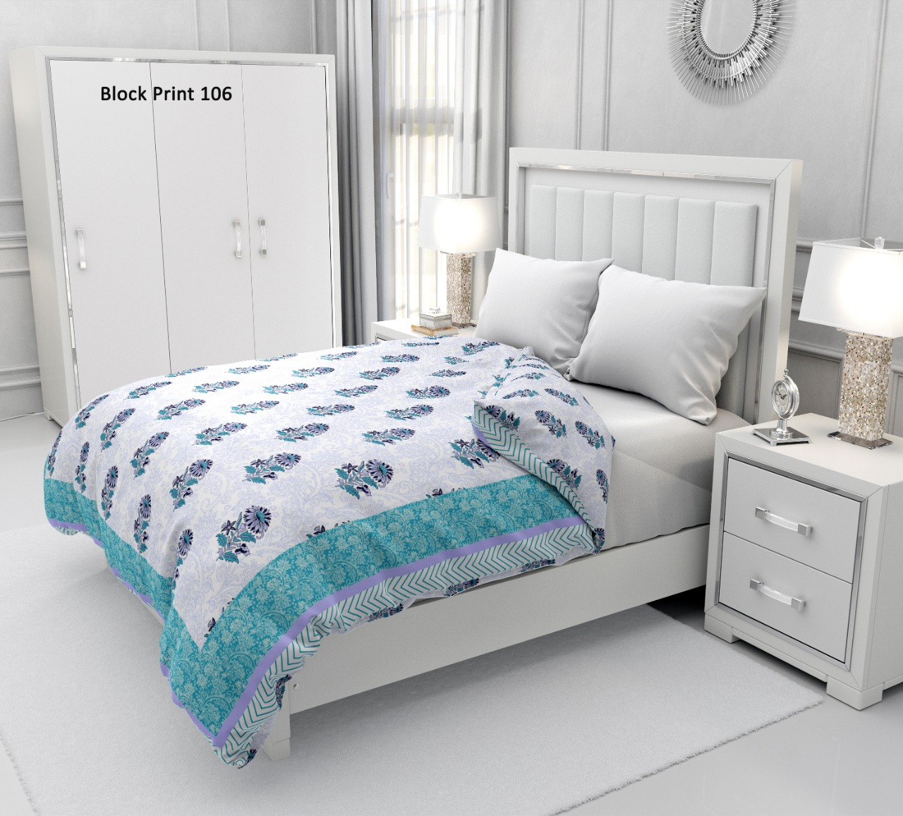 Buy Dohar Online In India Cotton Block Printed Dohar Wholesaler Exporter