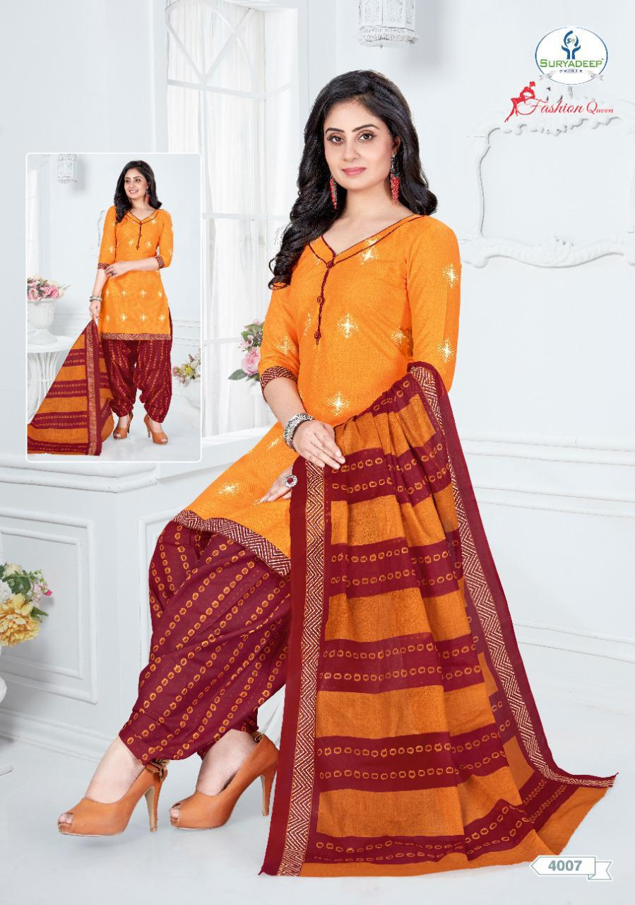 Fashion Queen Vol 4 By Miss World Cotton Casual Wear Salwar Suit