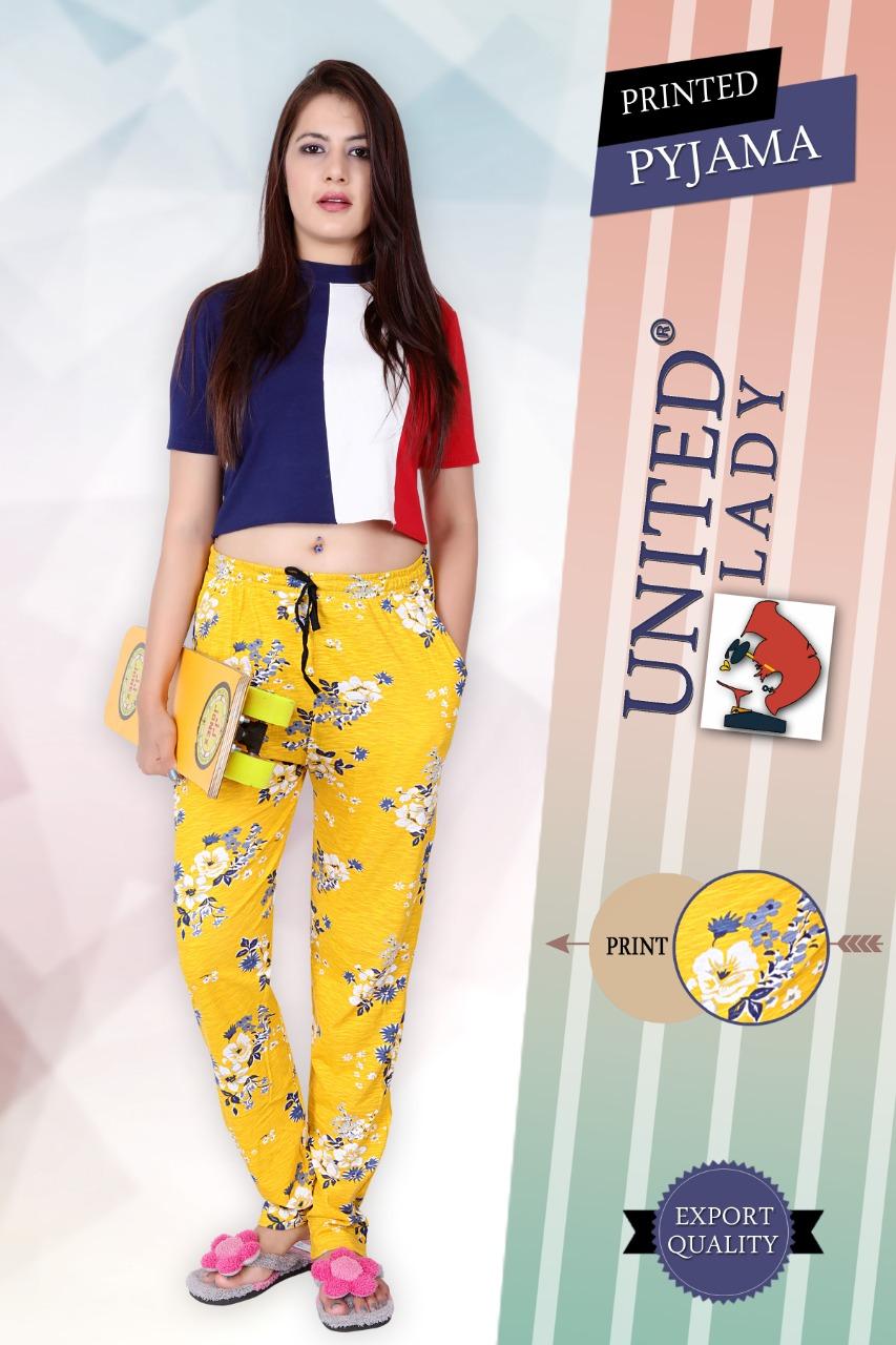 K4u Present Printed Cotton Lycra Payjama Casual Wear Collection