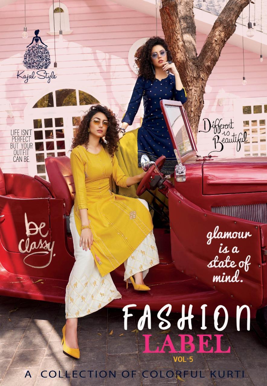 Kajal Style Fashion Label Vol 5 Rayon Kurti With Plazzo Pant Skirt And Sharara
