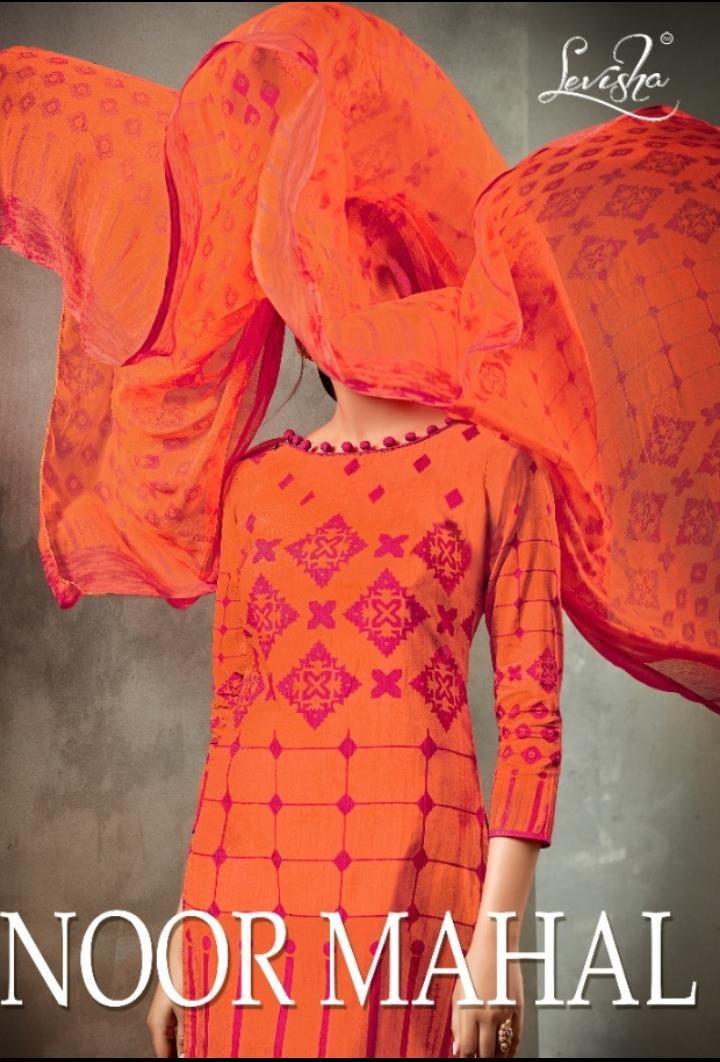 Noor Mahal By Levisha Cotton Printed Dress Materials Wholesaler