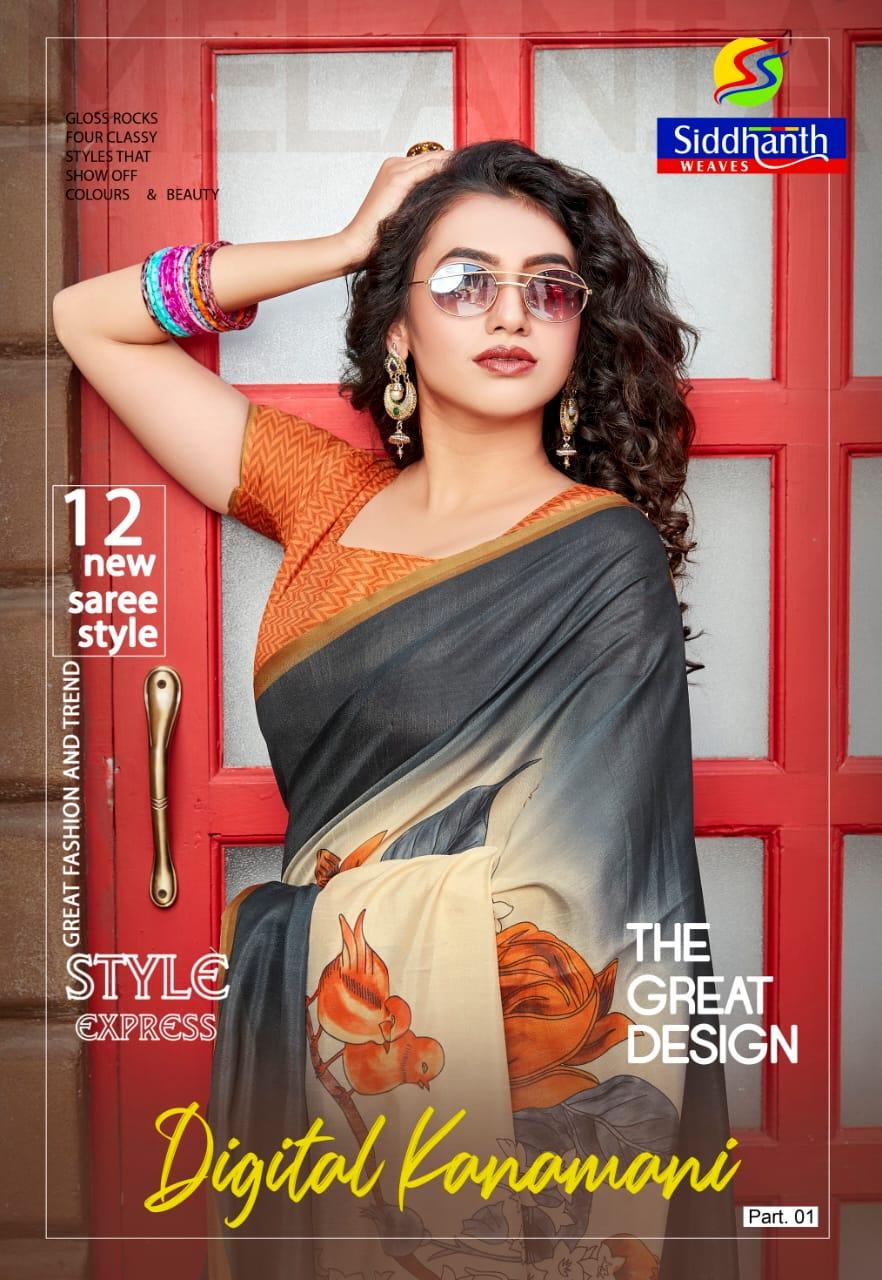 Siddhanth Weaves Digital Kanamani Part 1 Digital Saree At Best Rate