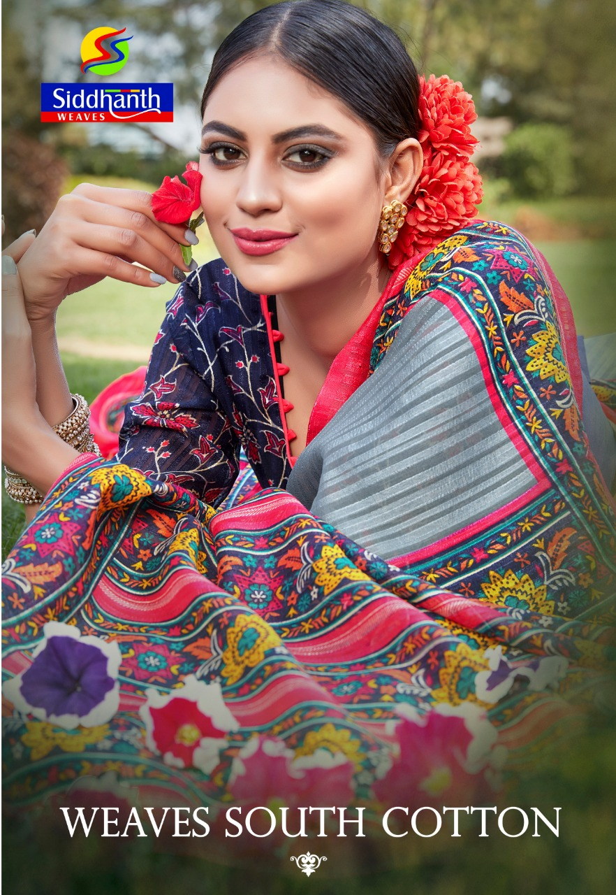 Siddhanth Weaves Launch Weaves South Cotton Casual Wear Saree At Chepest Rate