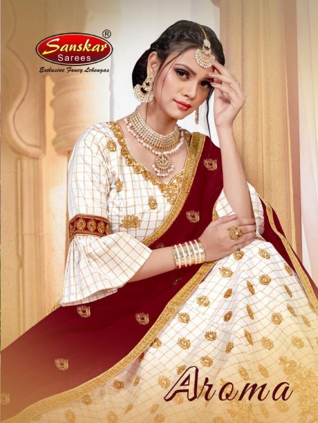Aroma By Sanskar Style Designer Small Checks Lehanga Online Seller