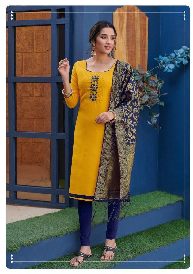 Avc Kalyani Cotton Slub Casual Wear Fancy Dress Materials