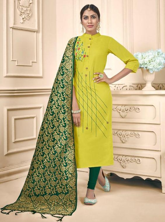 Avc Launh Raas Cotton Slub Chudidar Pattern Suit Online Shopping