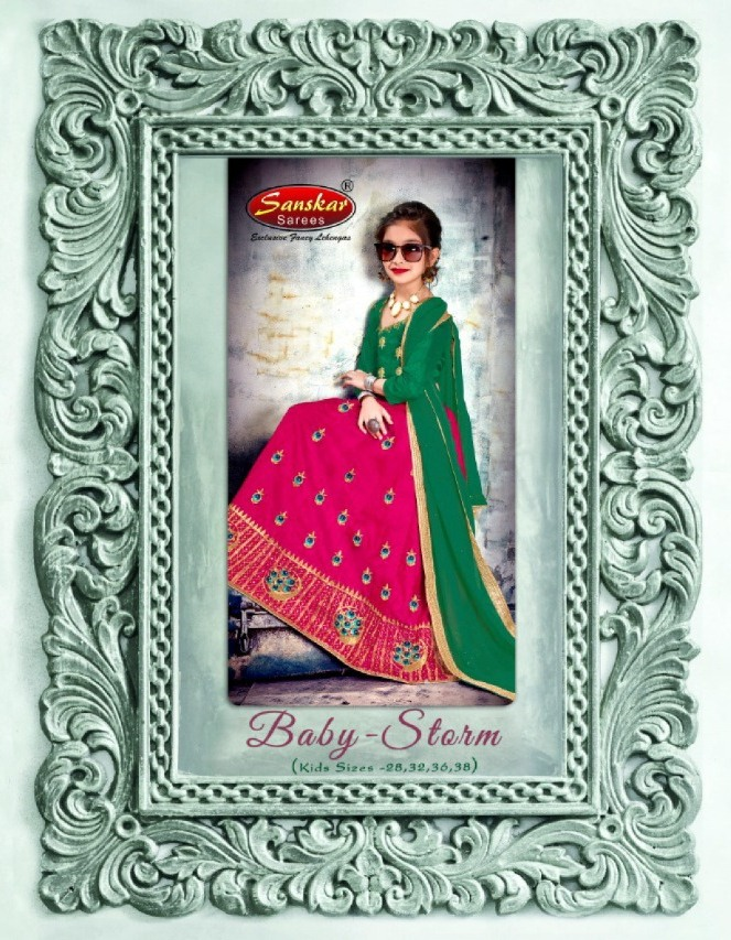 Baby Storm By Sanskar Style Bahubali Silk Designer Specially Kids Lehenga Collection