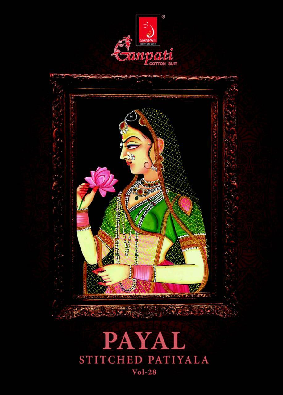 Ganpati Sandhya Payal Vol 28 Sittched Patiyala Punjabi Cotton Suits