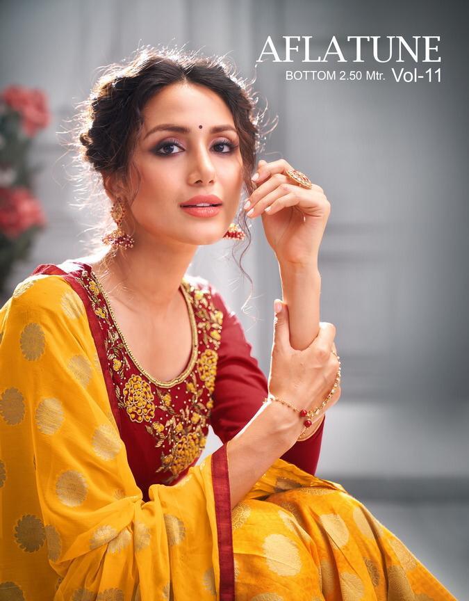 Kapil Trendz Aflatune Vol 11 Soft Silk Looking Charming Patiyala Style Salwar Suit