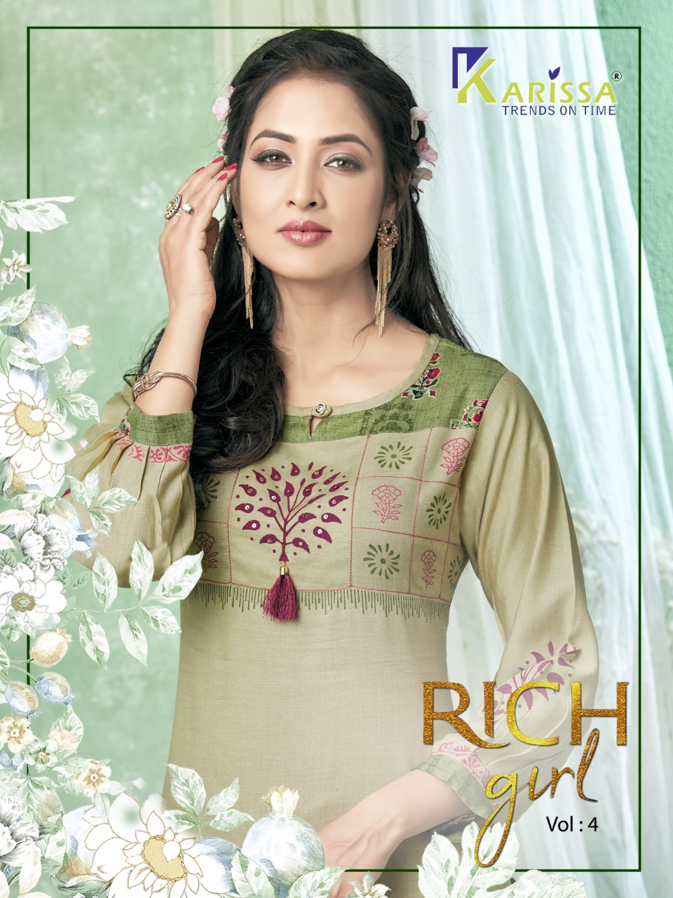 Karissa Rich Girl Vol 4 Rayon Kurtis With Comfortable To Wear Collection