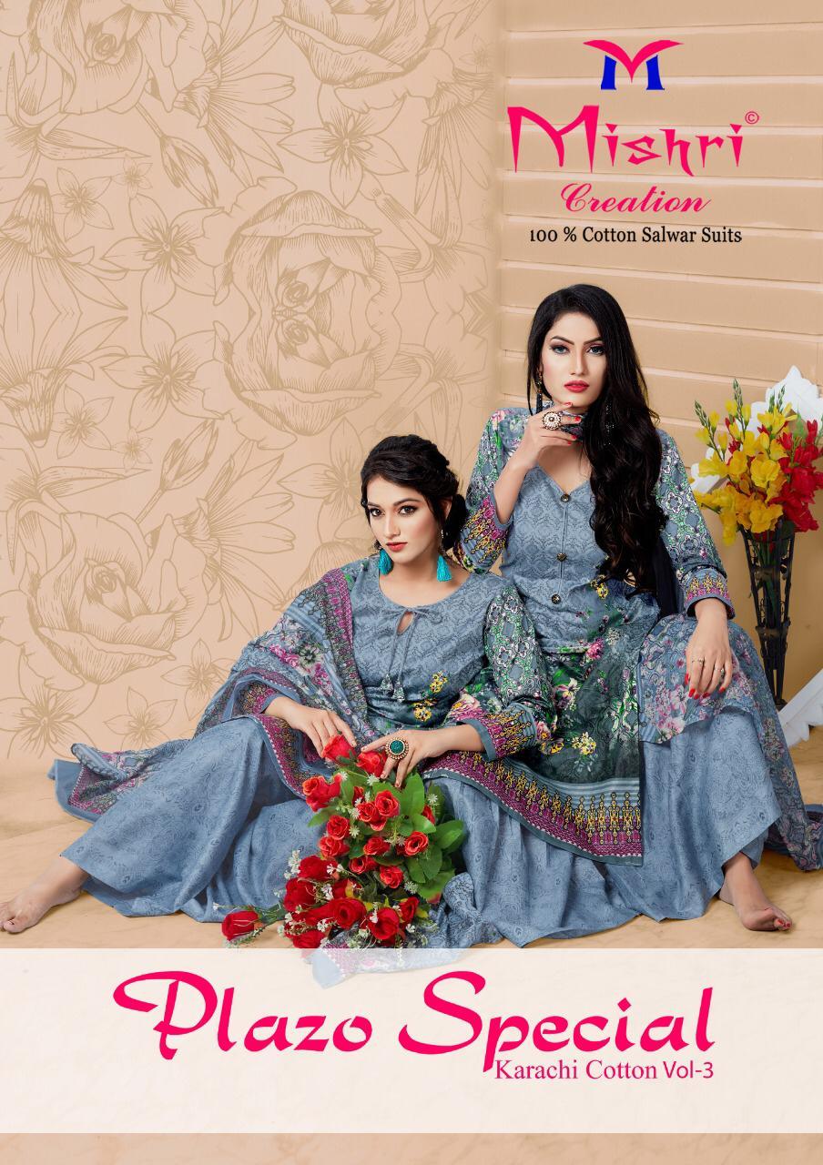 Mishri Plazo Special Vol 3 Karachi Cotton Printed Ladies Suits