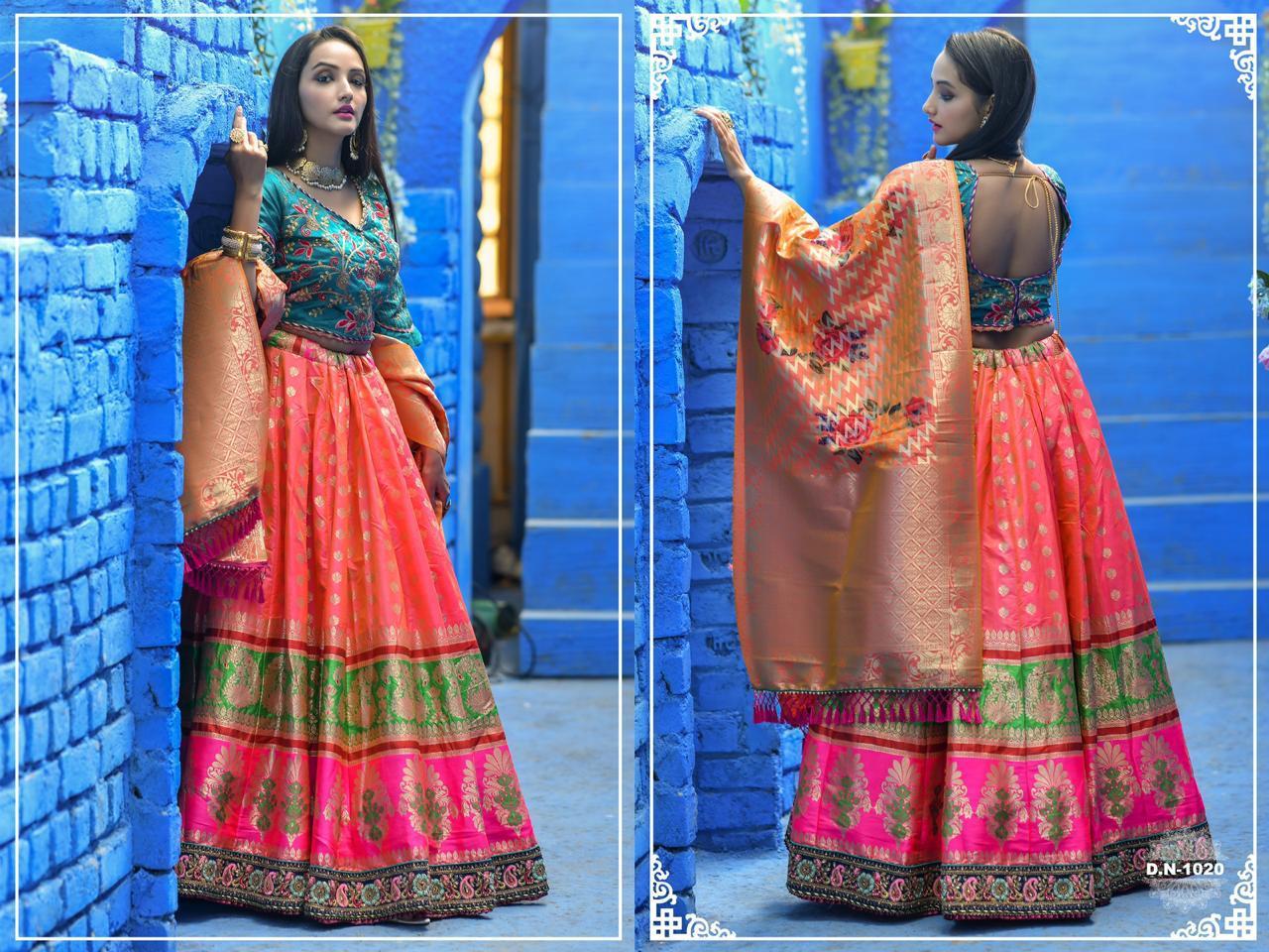 Peafowl Vol 55 1019-1024 Series Banarasi Lehangas Choli Elegant Collection