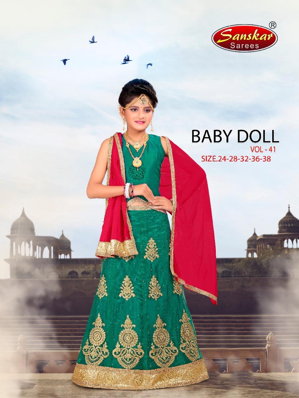 Sanskar Style Baby Doll Vol 41 Designer Net Kids Lehanga Collection
