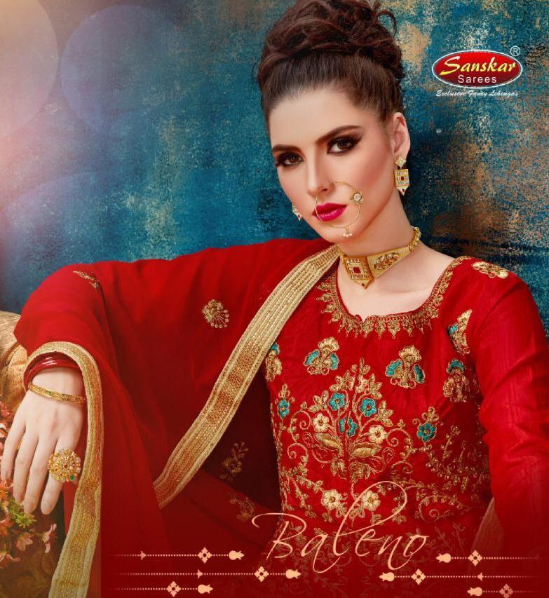 Sanskar Style Baleno Heavy Work Silk Designer Lehenga Online Shopping