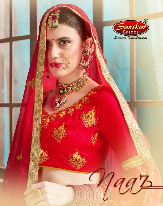 Sanskar Style Naaz Silk Festival Wear Lehanga Online Supplier