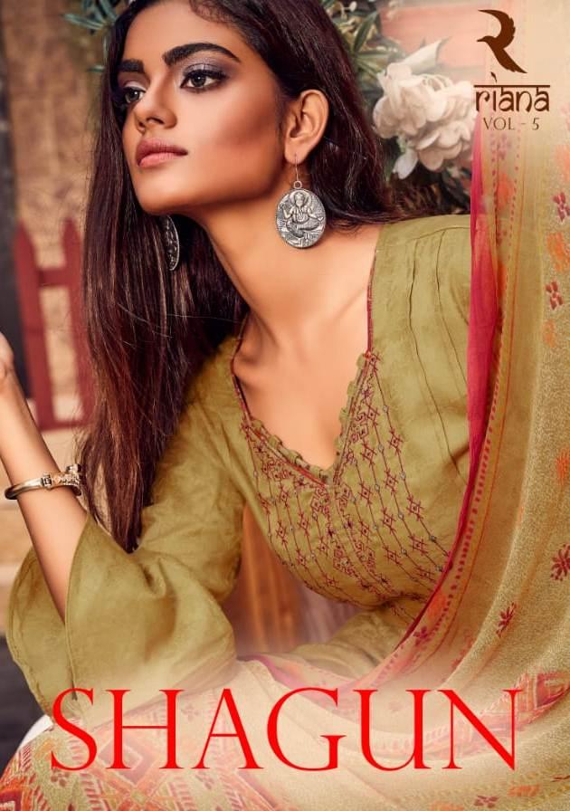 Shivam Raina Vol 5 Jam Jacquard With Embroidery Salwar Suit Wholesale Price In Surat