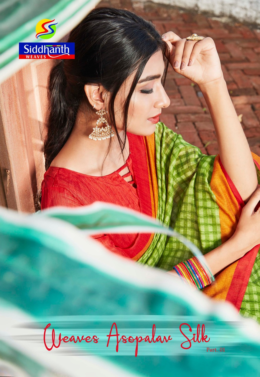 Siddhanth Weaves Present Weaves Asopalav Silk Fancy Printed Saree