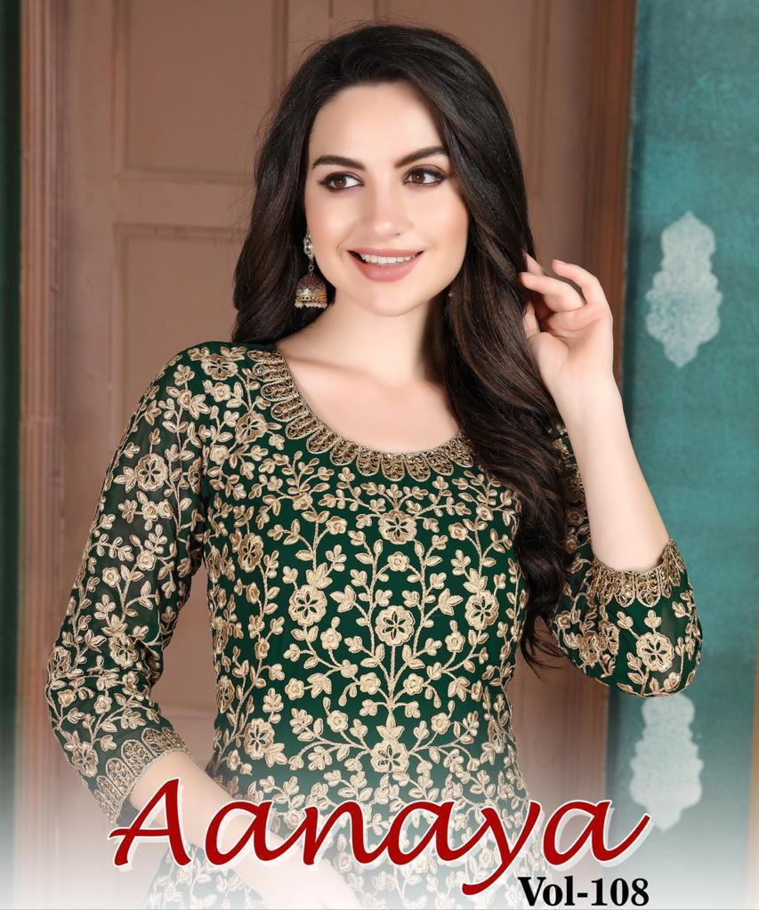 Twisha Aanaya 800 Series Vol 108 Georgette Heavy Designer Party And Wedding Wear Salwar Suit
