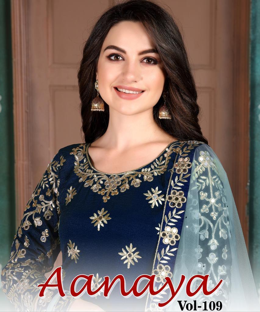 Twisha Present Aanaya Vol 109 Art Silk Designer Looking Beautiful Salwar Suit