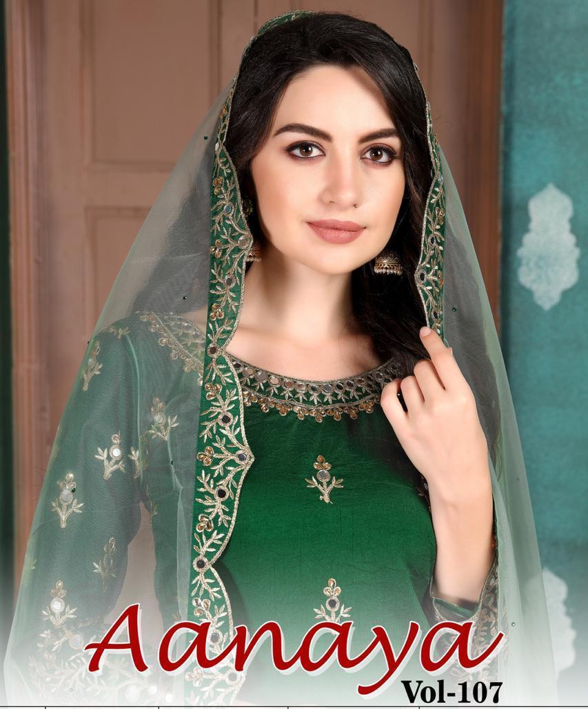 Aanaya Vol 107 By Twisha Art Silk Patiyala Style Fancy Salwar Kameez