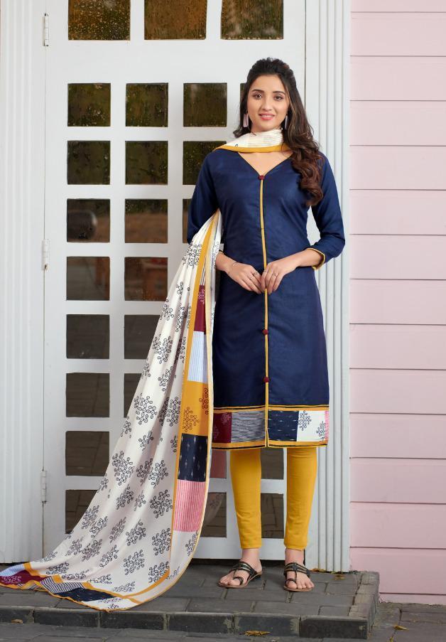 Avc Launch Kalakari Soft Slub Digital Print Casual Wear Salwar Suit