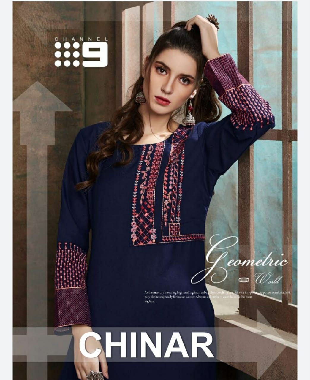 Chinar By Channel 9 Rayon Latest Design Print Kurti With Plazzo