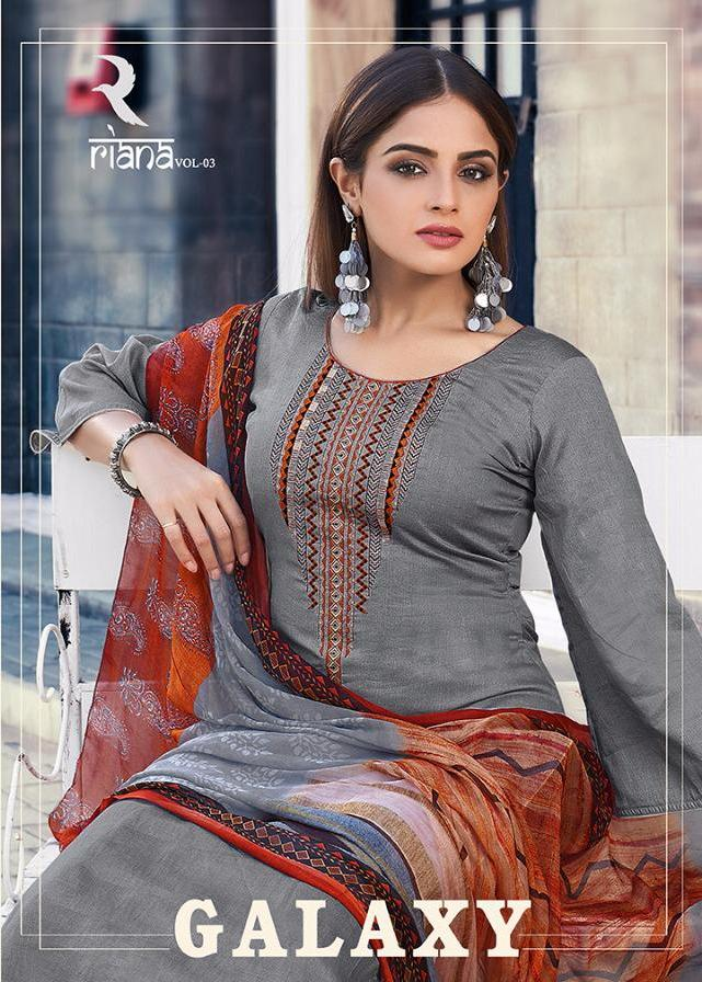 Galaxy By Shivam Pure Jam Printed Embroidery Good Looking Suit Designs