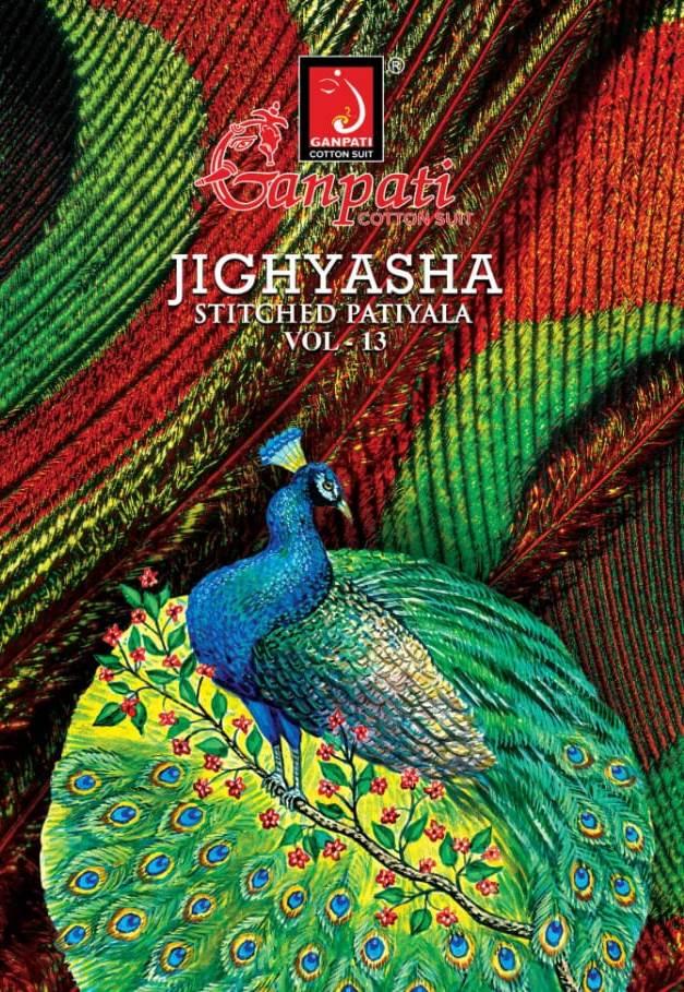 Ganpati Jigyasha Vol 13 Readymade Pure Cotton Casual Wear Patiyala Style Suit