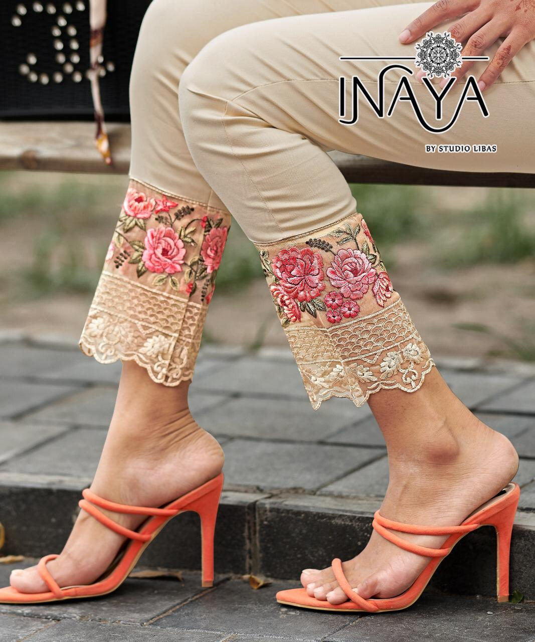 Inaya By Studio Libas Cigarettes 15 Stretchable Cotton Cigarette Pants Collection