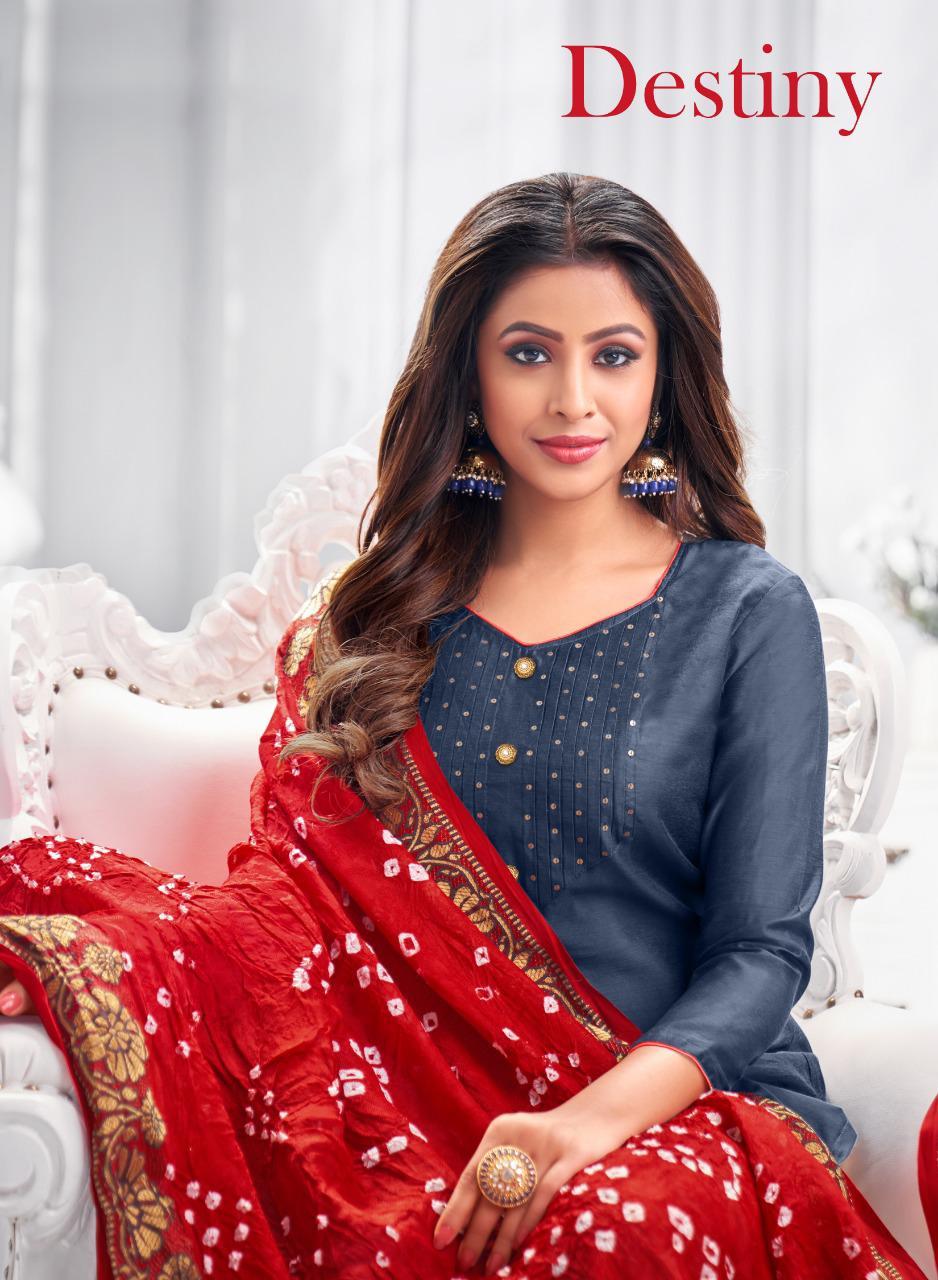 Kapil Trendz Destiny Fancy Ladies Suits Leading Supplier In Surat Market