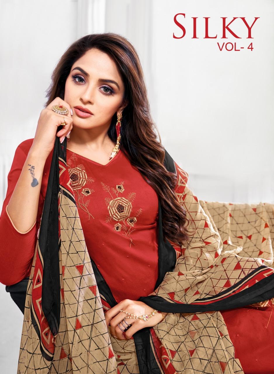 Kapil Trendz Launch Silky Vol 4 Cotton Casual Wear Salwar Suit