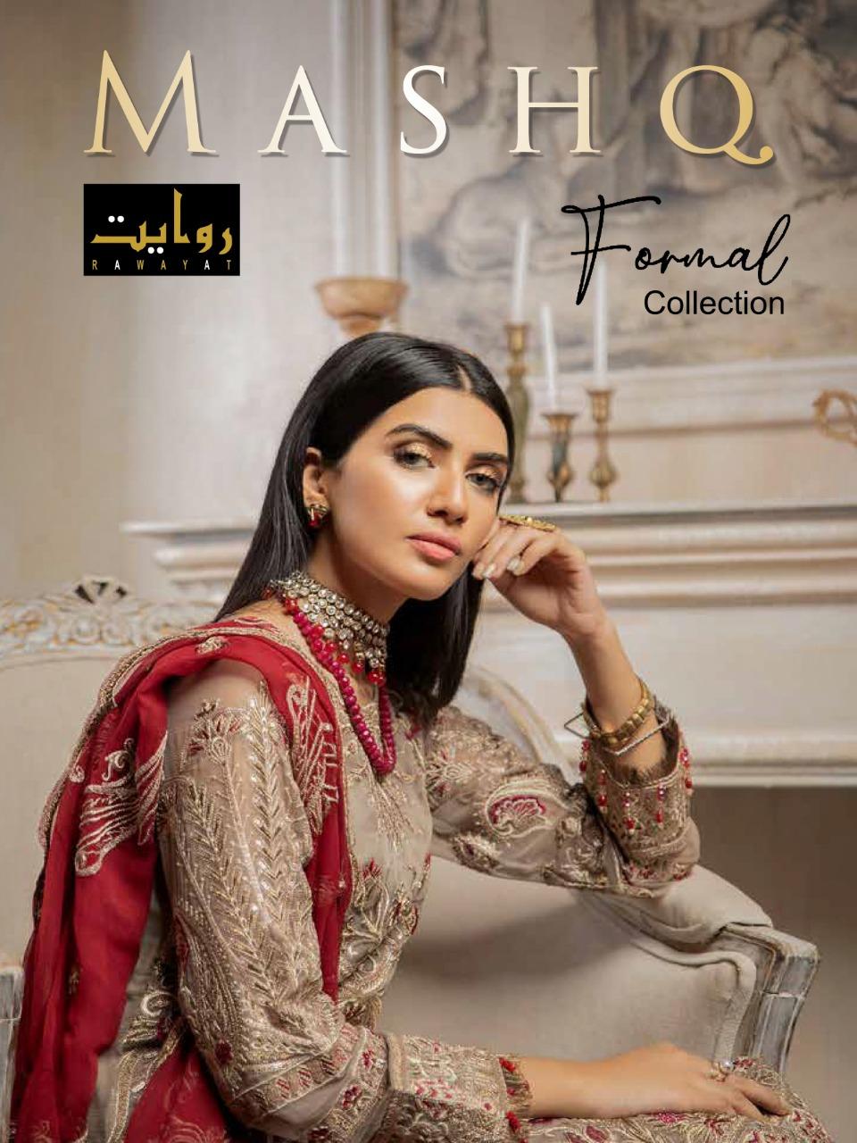 Rawayat Mashq Chiffon 2020 Georgette Embroidery 13005-13008 Series Pakistani Suits