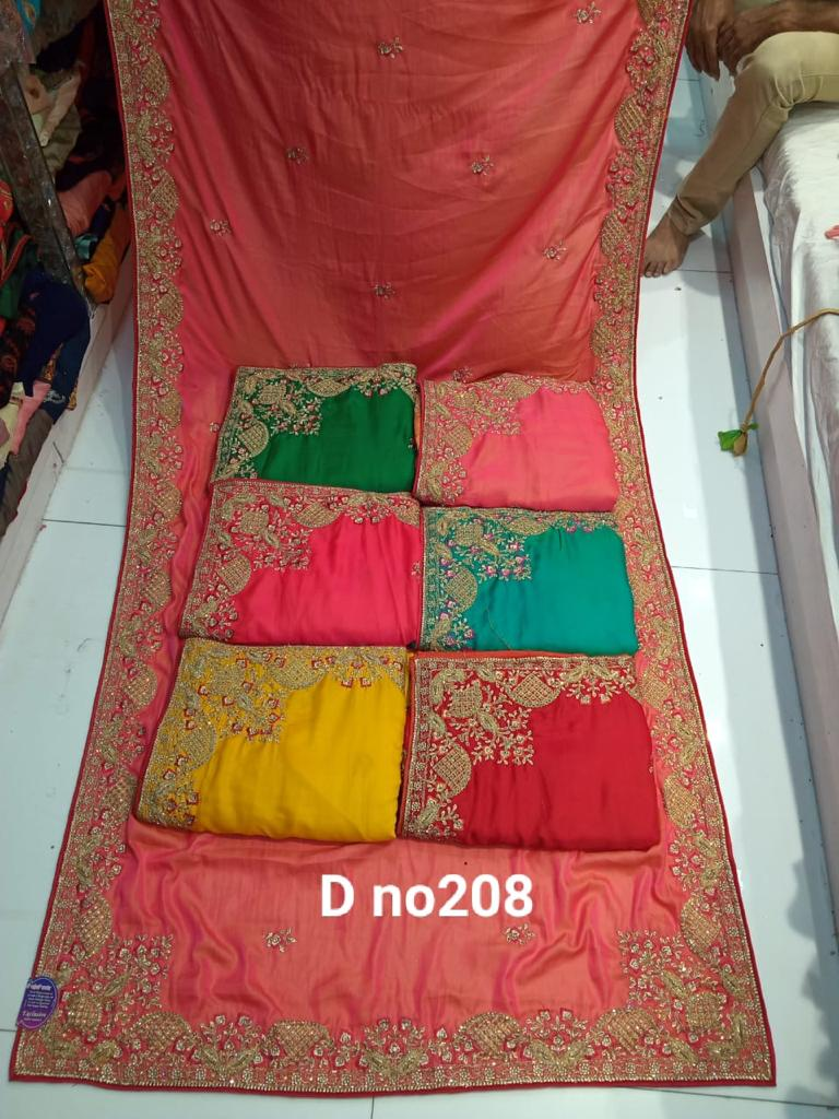 Buy Surat Sarees Heavy Embroidered Machine Work Wedding Saris Collection At Krishna Creation