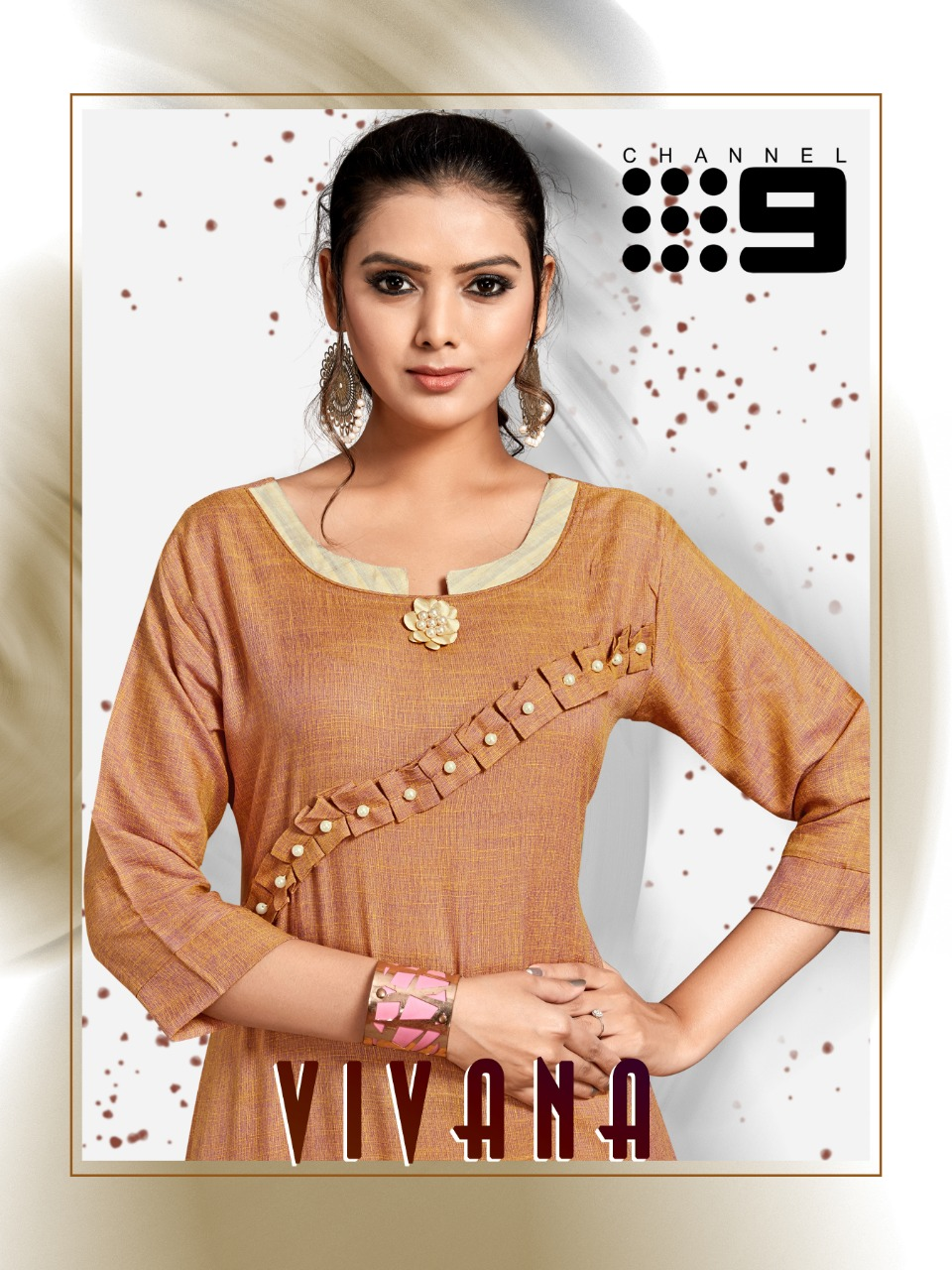 Channel 9 Presents Vivana Rayon Base Kurti With Cotton Pants Authorized Seller