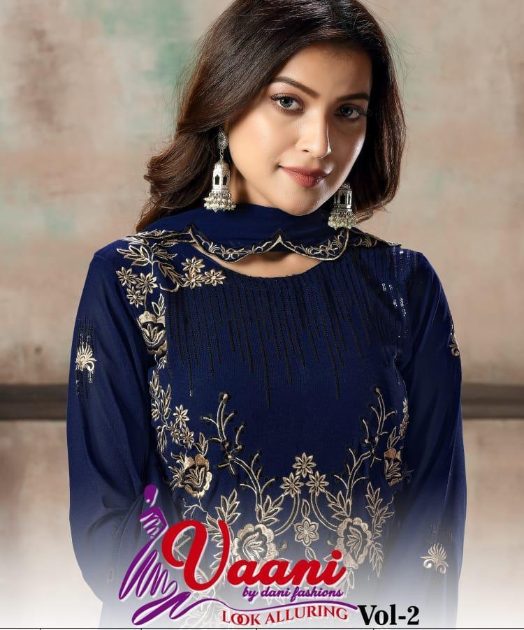 Dani Fashion Vaani Vol 2 Georgette Embroidery Salwar Kameez