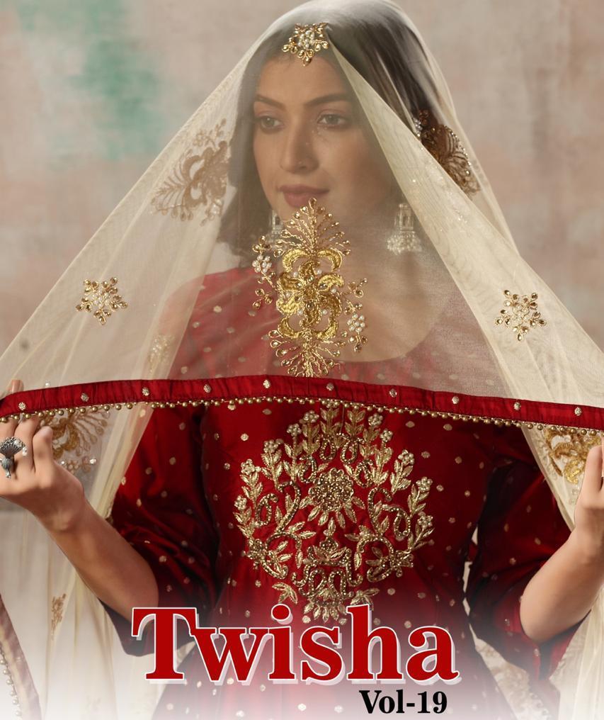 Dani Presents Twisha Vol 19 Silk Readymade Logn Gown Style Salwar Kameez