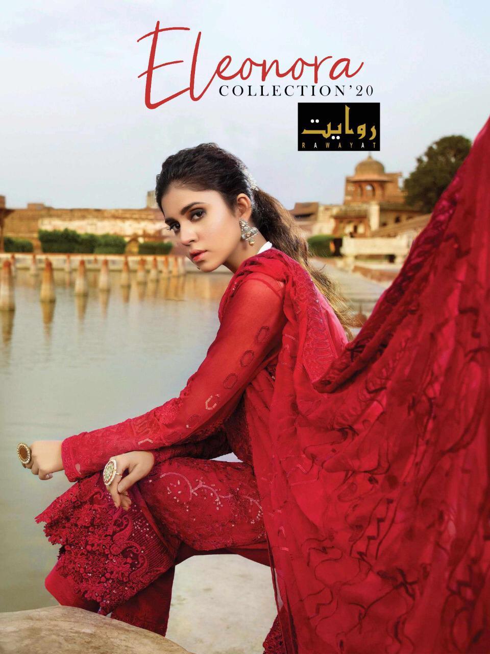 Eleonora Chiffon 2020 By Rawayat Heavy Georgette With Embroidery Pakistani Suita Concept