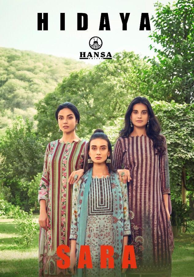Hidaya Sara By Hansa Pashmina Digital Print With Hand Work Suit At Wholesale Rate