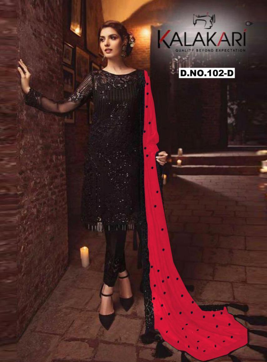 Khayyira Suits Serine Colors 102 Georgette Embroidery Work Salwar Kameez In Surat