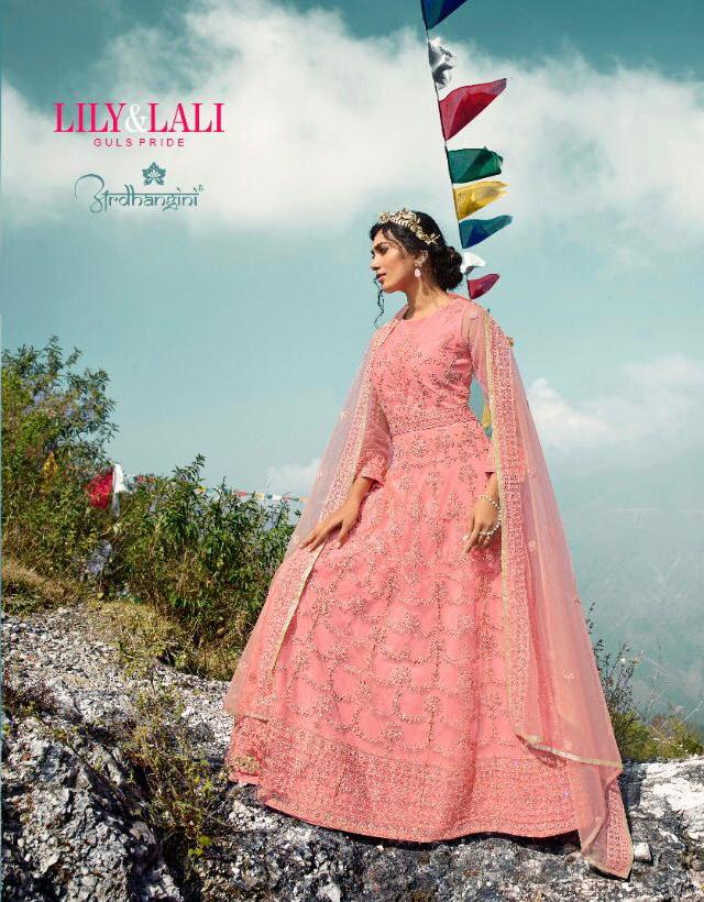 Lily And Lali Present Ardhangini Heavy Party Wear Long Gown With Dupatta Collection