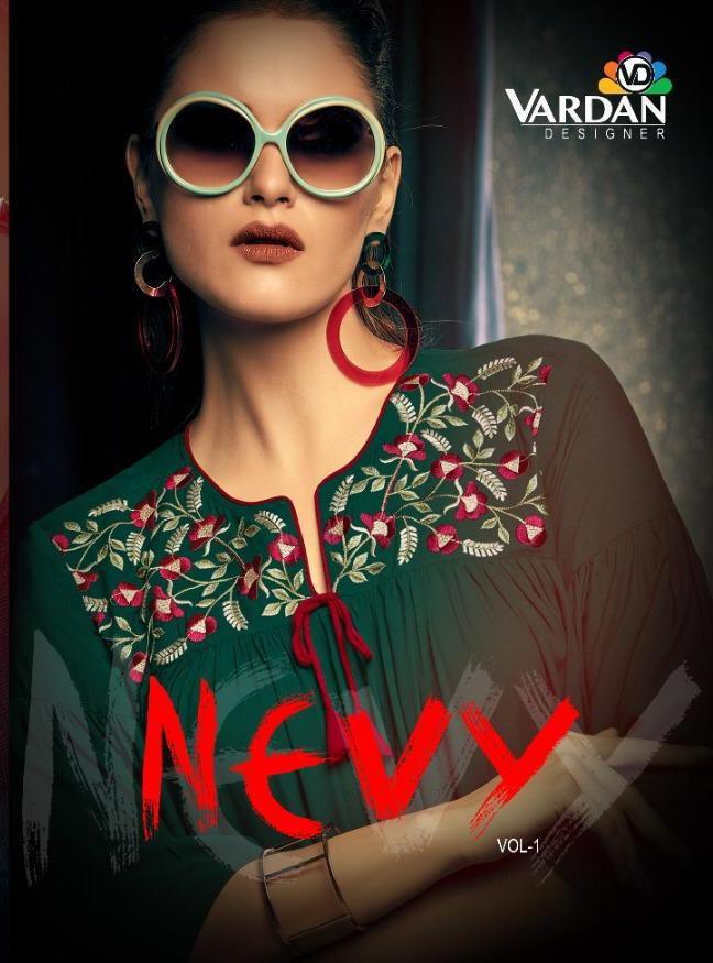 Nevy By Vardan Designer Rayon Short Top Collection