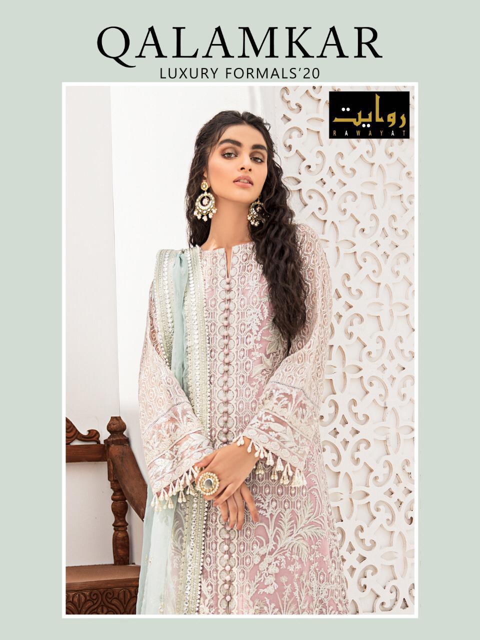 Qalamkar By Rawayat Georgette Embroidery Pakistani Salwar Kameez