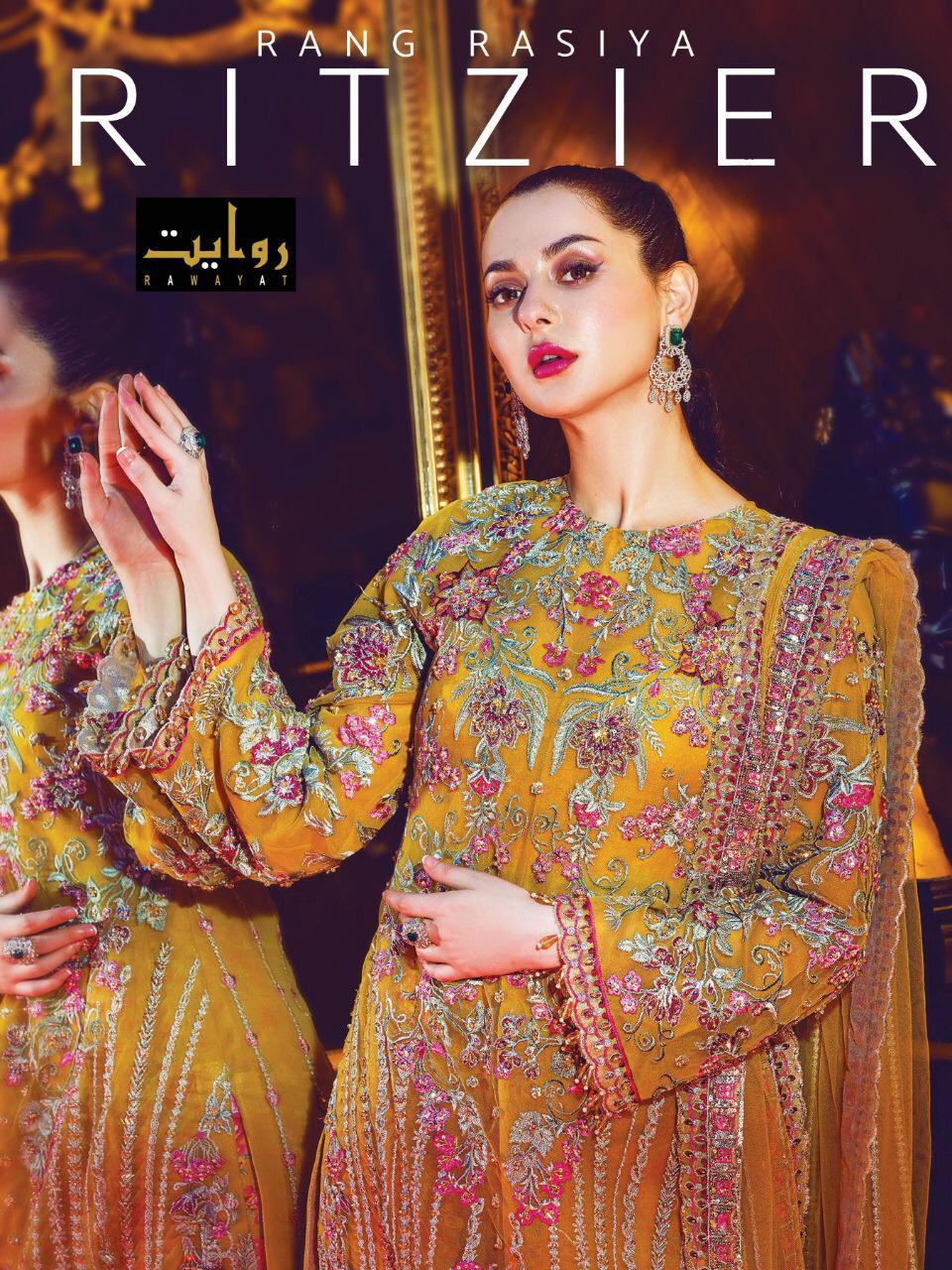 Ritzier By Rawayat Butterfly Net Embroidery Pakistani Salwar Kameez