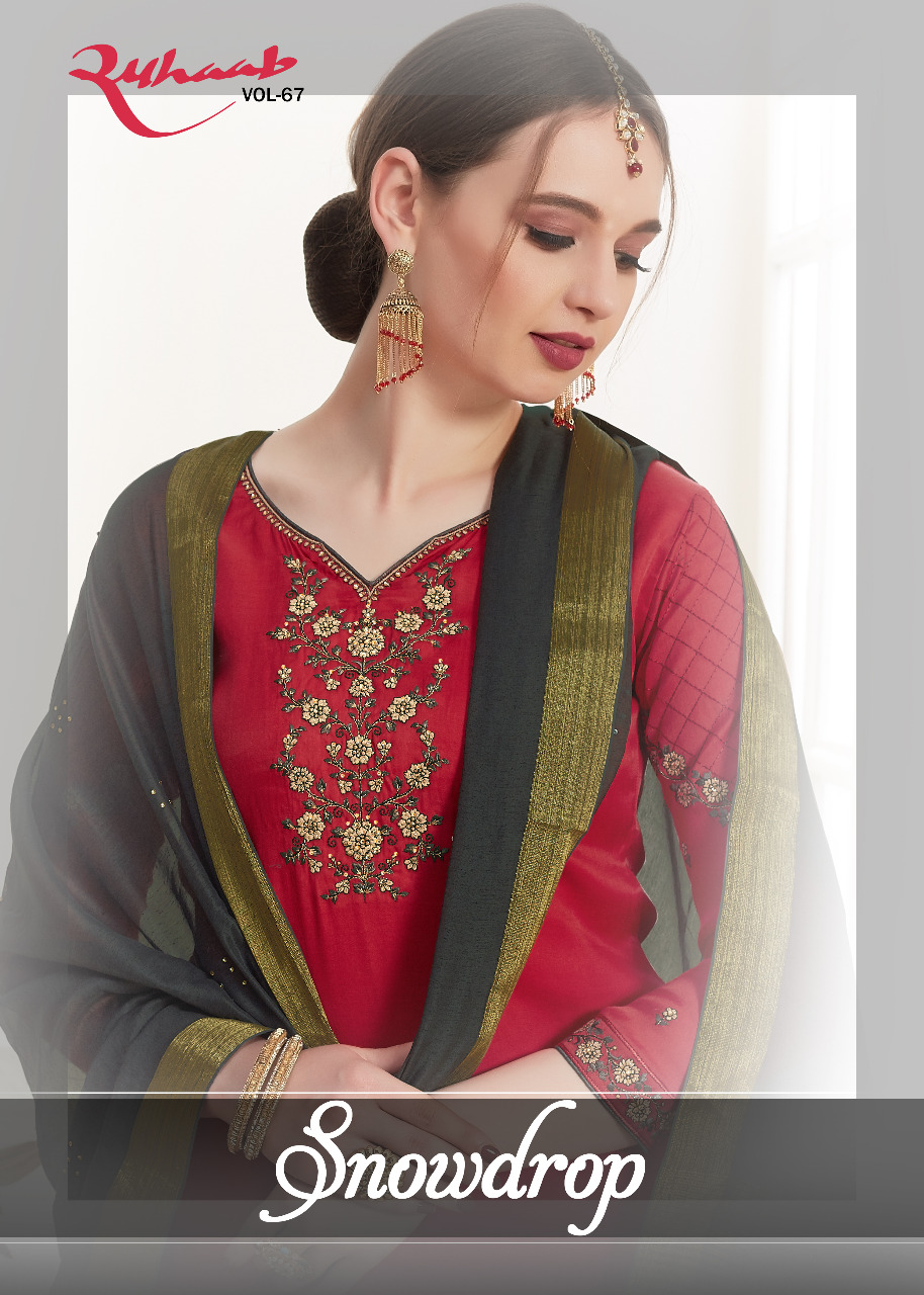 Shivam Ruhaab Vol 67 Cotton Silk Embroidery Fancy Suits Materials