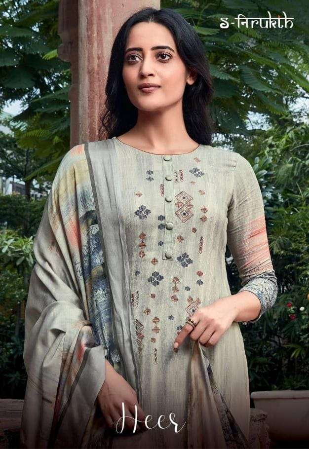 T And M Presents Heer Pashmina Print With Embroidery Work Salwar Kameez In Surat
