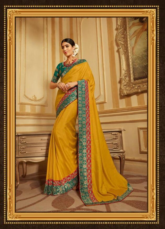 Aloukik Presents Grandiose Vol 2 Fancy Silk Designer Wedding And Festival Wear Heavy Saree