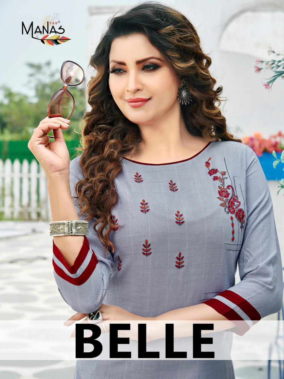 Beele By Manas Fab Rayon With Embroidery Work Top With Bottom Online Supplier