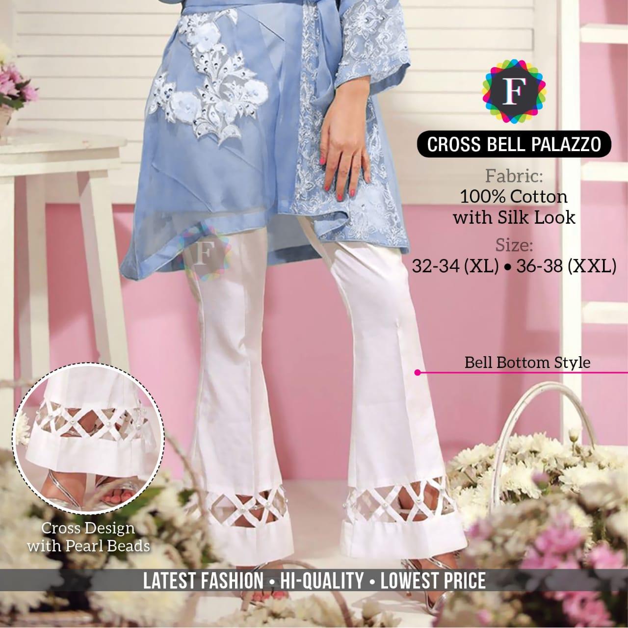 Cross Bell Palazzo Cotton Festive Season Summer Special Bottom Wear