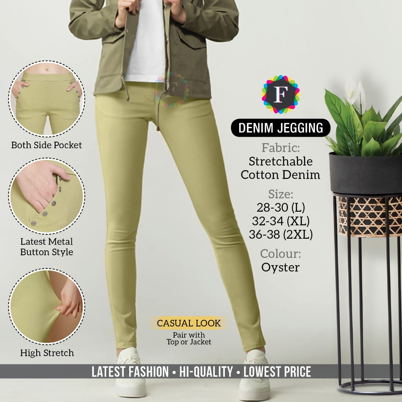 Denim Jegging By K4u Cotton Comfortable Wear Stretchable Style Pant